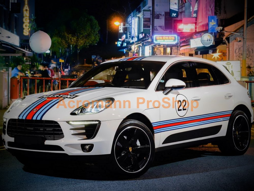 Martini Racing Porsche Macan Cayenne Side Stripes Door Decals #1